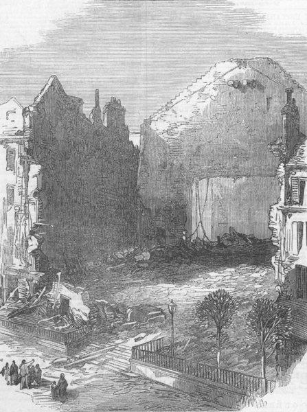 Associate Product FRANCE. The Theatre, Porte St Martin, antique print, 1871