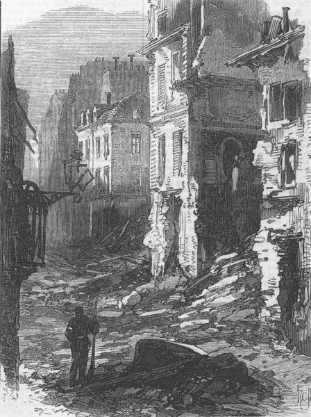 Associate Product FRANCE. The Rue du Bac, antique print, 1871