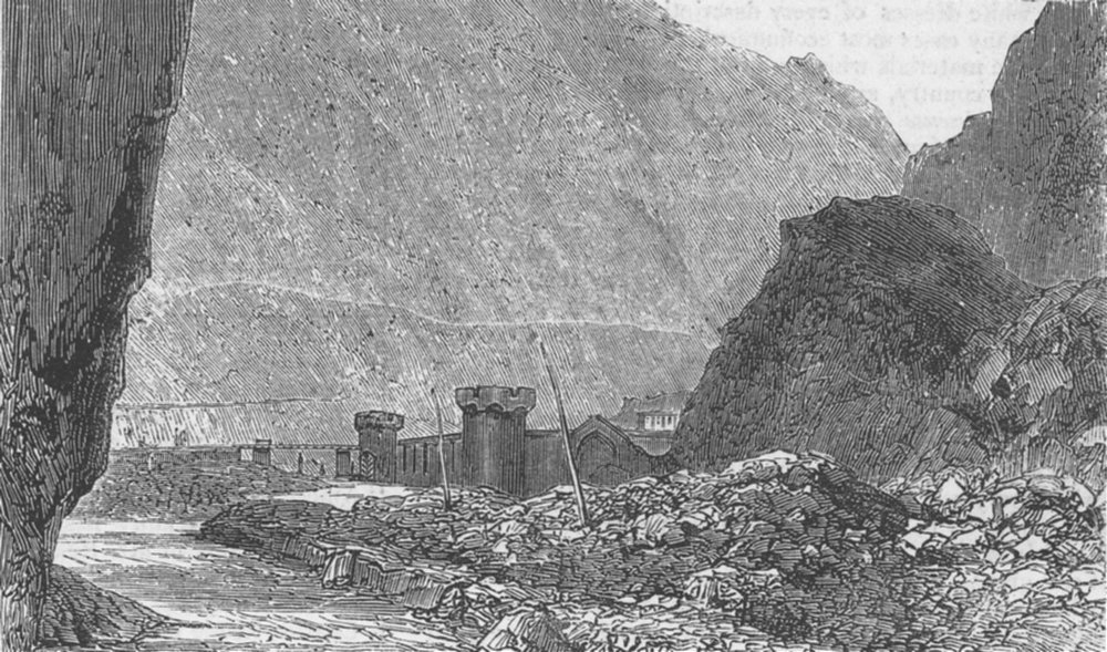 Associate Product RUSSIA. The Darial Gorge, antique print, 1877