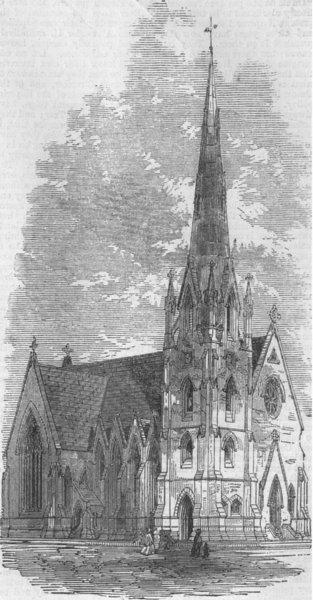 Associate Product LONDON. St Stephen's Church, South Lambeth, antique print, 1861