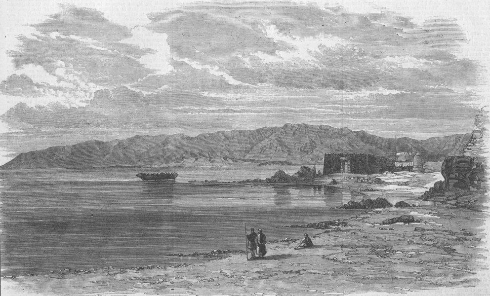 Associate Product EGYPT. Suez, antique print, 1862