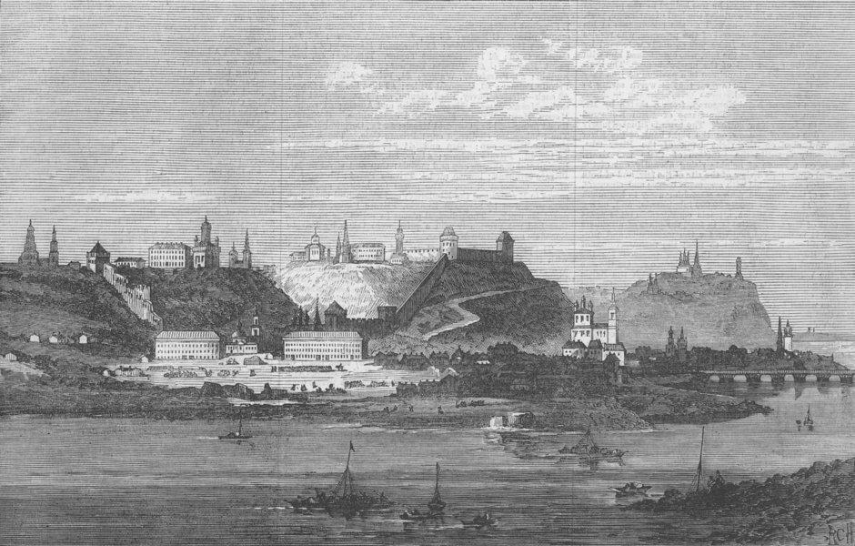 Associate Product RUSSIA. Nijni-Novgorod, visited by Duke of Edinburgh, antique print, 1875