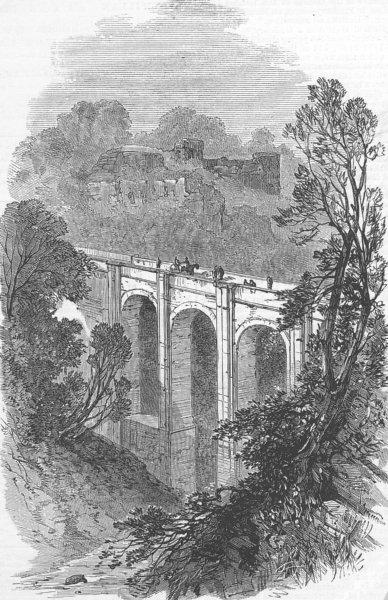 Associate Product SCOTLAND. Old Castle of Cadzow, antique print, 1878