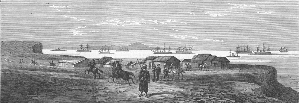 Associate Product TURKEY. Upper Beef Town, Besika Bay, antique print, 1878