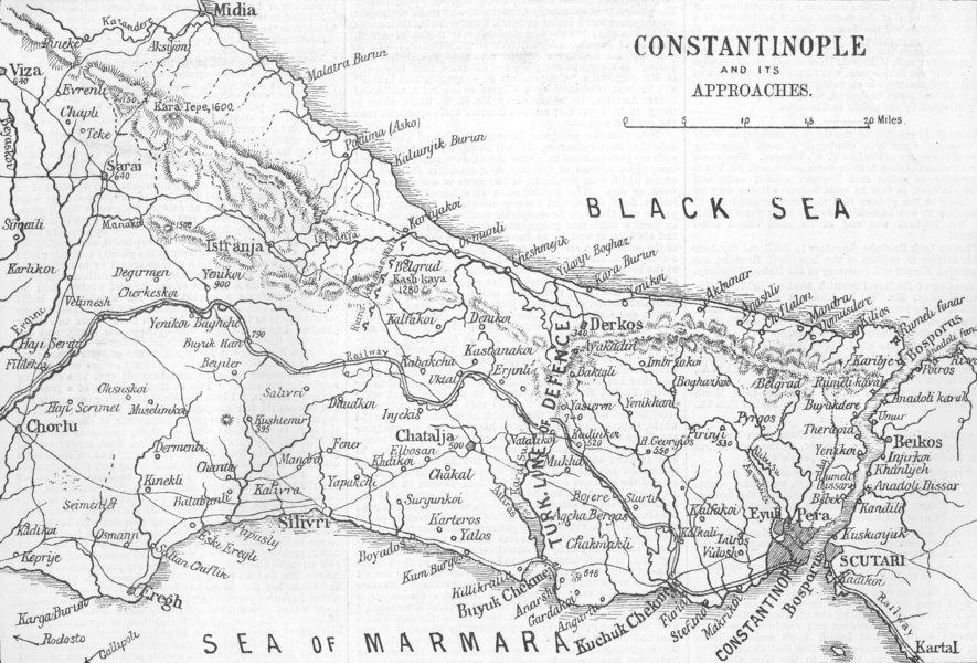 Associate Product TURKEY. Russo-Turkish War 1877–1878. Istanbul, 1878 map
