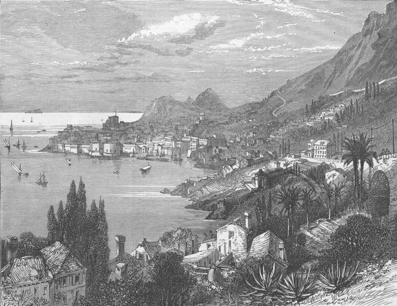 Associate Product CROATIA. Dubrovnik, Dalmatia, antique print, 1876