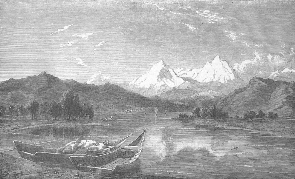 Associate Product SWITZERLAND. The Lake of Thun, antique print, 1852