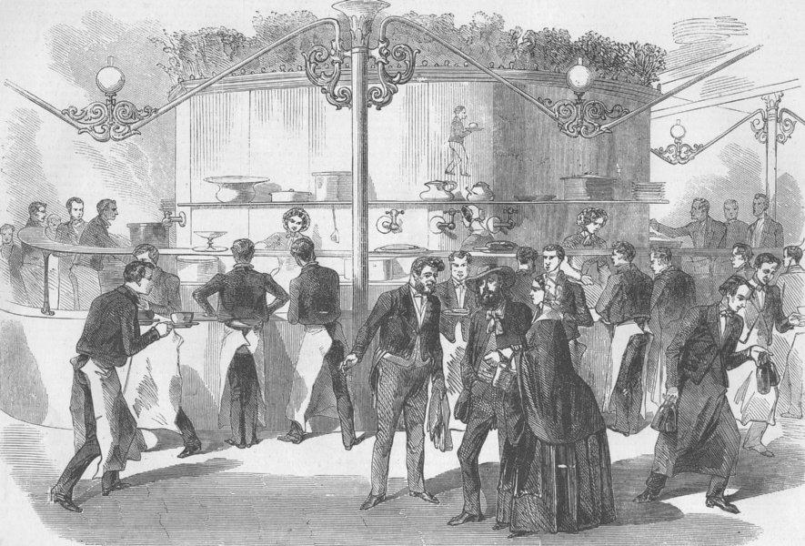 Associate Product FRANCE. The Salle Montesquieu, in Paris, antique print, 1856
