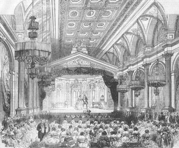 Associate Product FRANCE. Grand Fete at the Hotel de Ville, Paris, antique print, 1856