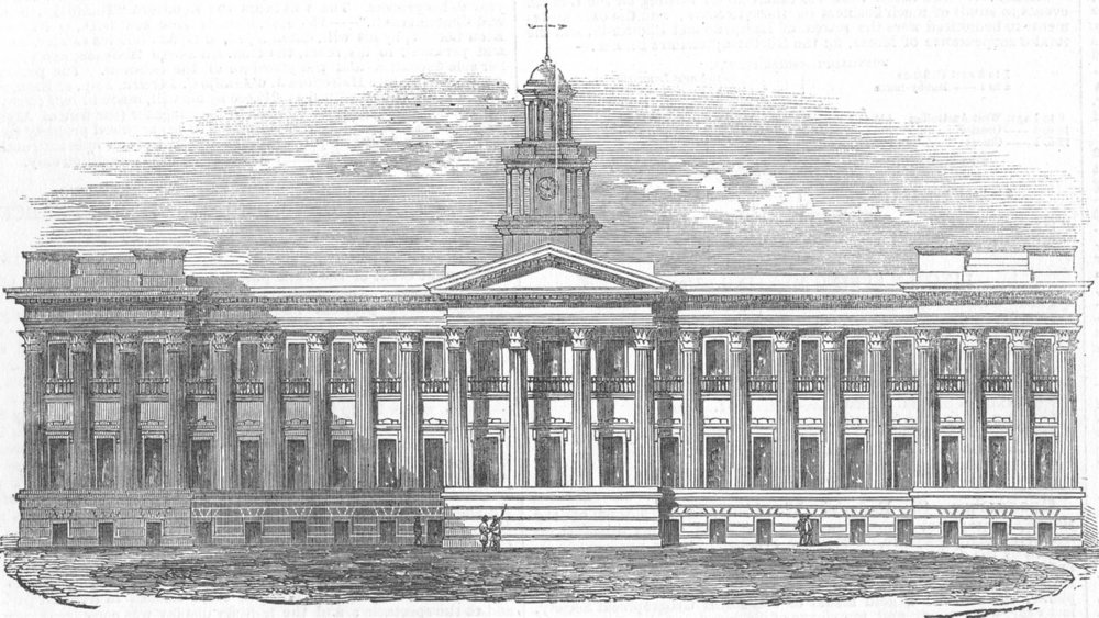Associate Product INDIA. The New Medical College Hospital, Kolkata. Calcutta, antique print, 1853
