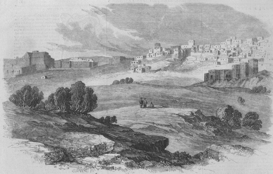 Associate Product ISRAEL:Bethlehem - from Laborde, antique print, 1858