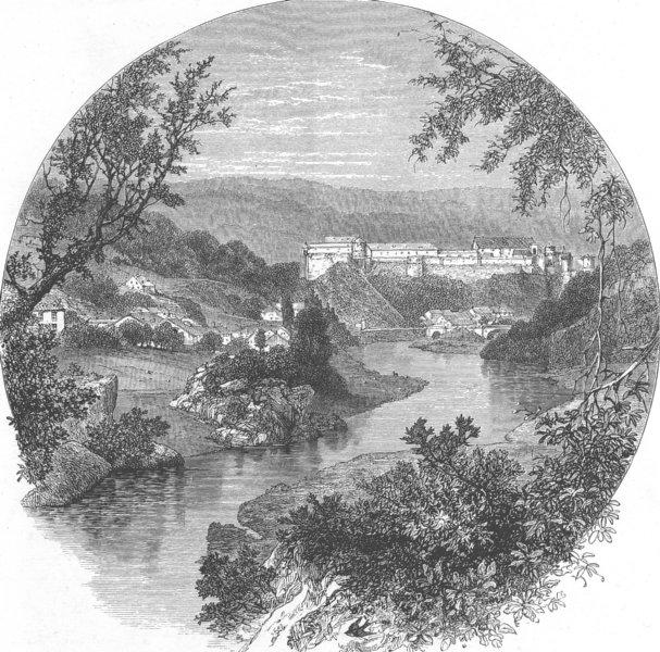 Associate Product BELGIUM. Bouillon, antique print, c1880