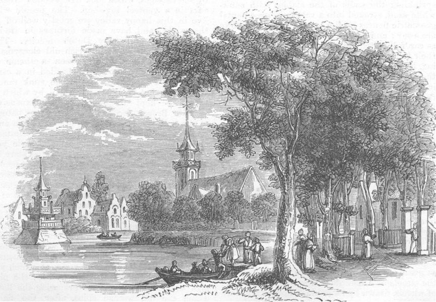Associate Product BELGIUM. The Village of Broeck, antique print, 1872