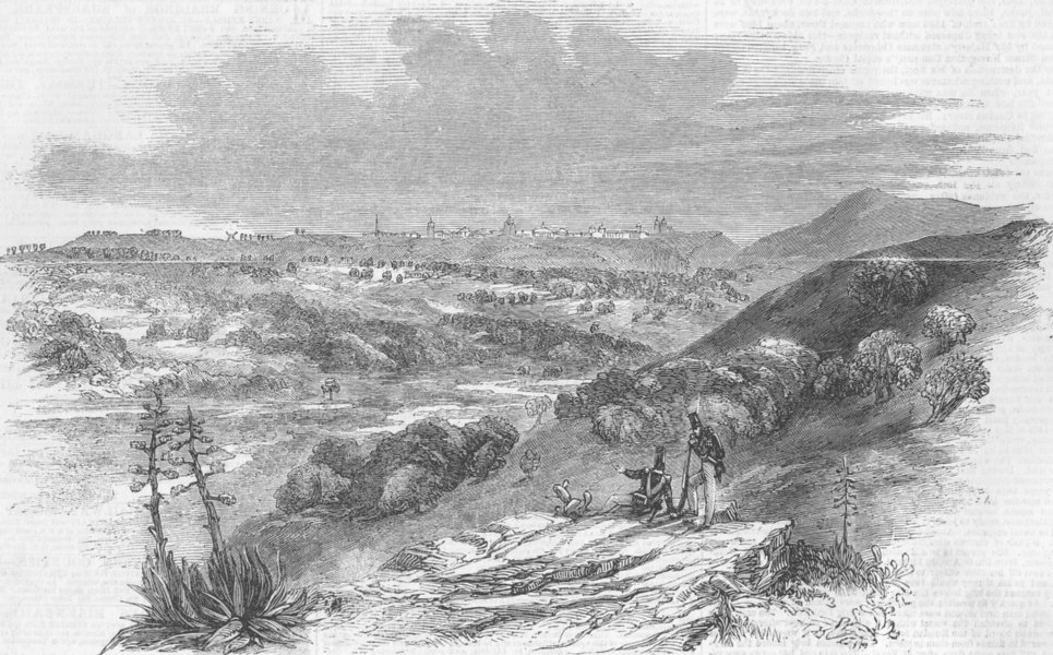 Associate Product BRAZIL. Santarem, antique print, 1851
