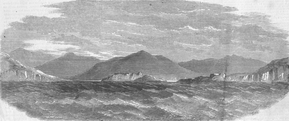 Associate Product IRELAND. Transatlantic Telegraph Cable. Valentia, antique print, 1858