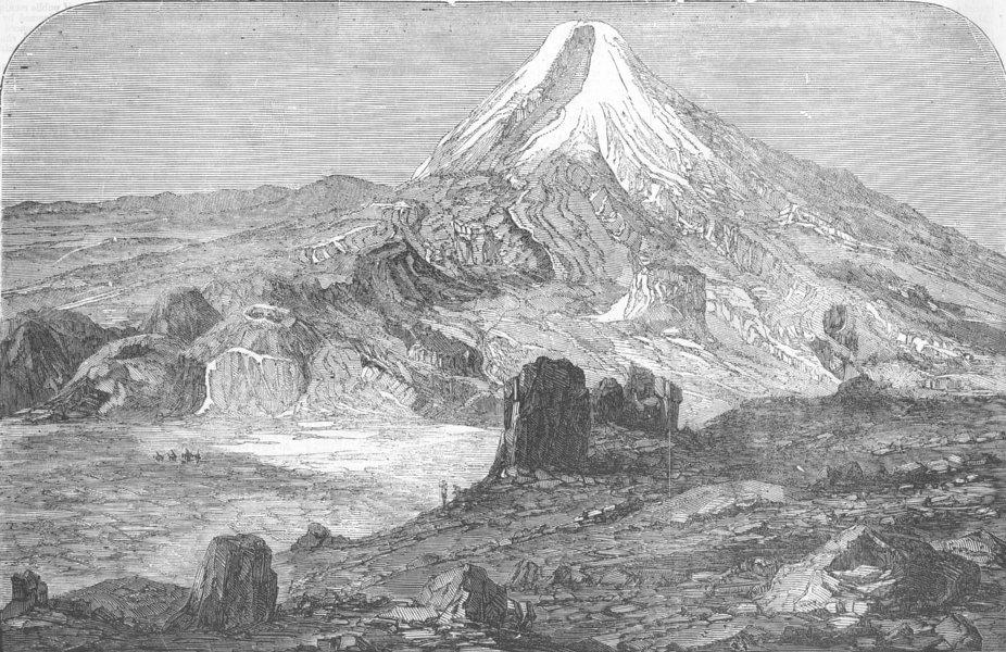 Associate Product TURKEY. Crimean War. Mount Ararat, antique print, 1856