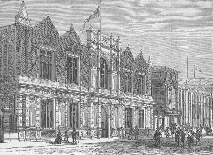 Associate Product FRANCE. Paris Expo. British Commission, antique print, 1878