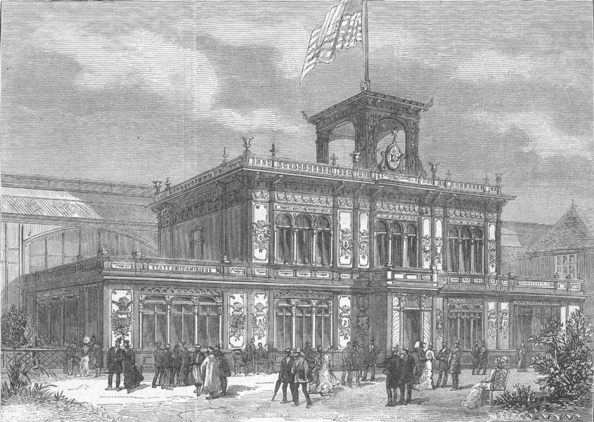 Associate Product FRANCE. Paris Expo. US Building, Champ De Mars, antique print, 1878