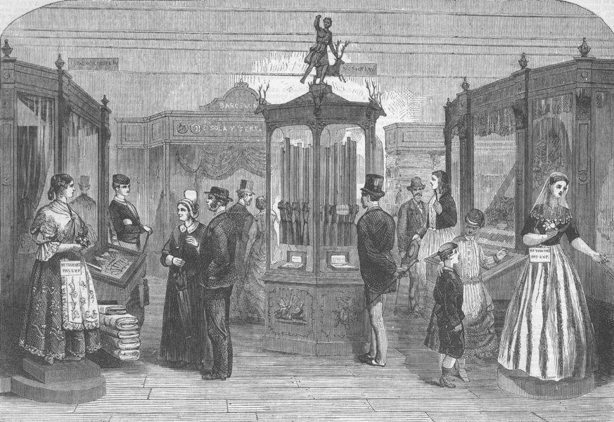 Associate Product SPAIN. Spanish Section of Paris int'l Exhibition, antique print, 1867