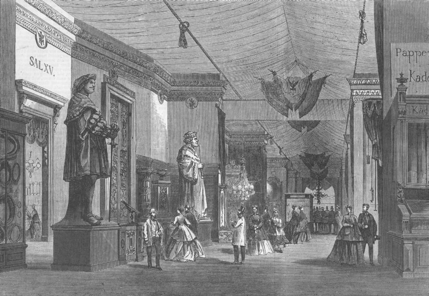 Associate Product SWITZERLAND. La rue de Prusse, antique print, 1867