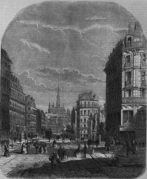 Associate Product FRANCE. The Boulevard de Sevastopol, Paris, antique print, 1859