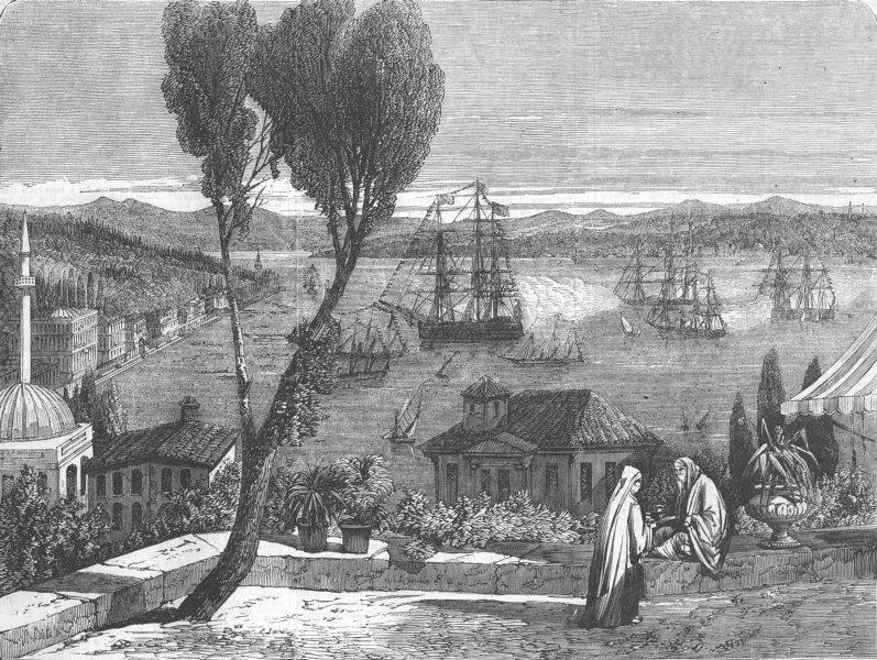 Associate Product FRANCE. Sultan leaving Dolmabaghdsche palace, antique print, 1857