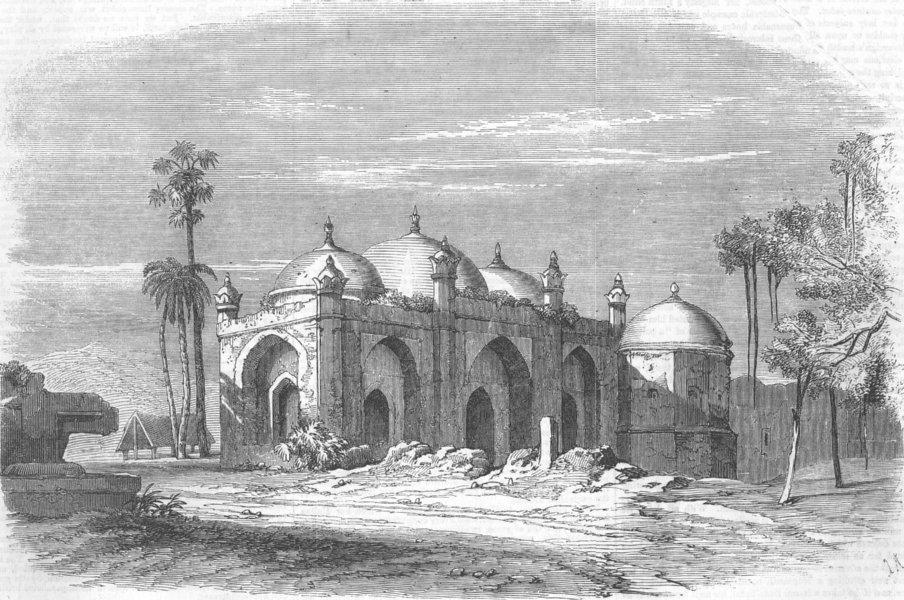 Associate Product INDIA. Musjid remains, Palace of the Lion, Rajmahal, antique print, 1857