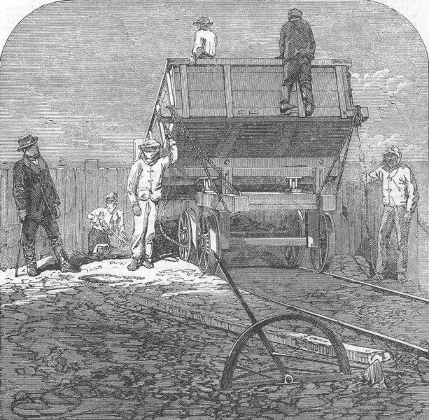 Associate Product PERU. Chincha(Guano) Islands. Shooting the Guano, antique print, 1863