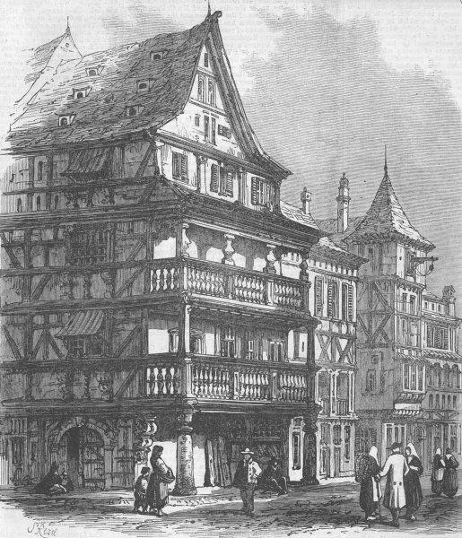 Associate Product FRANCE. Franco-Prussian War. War. St, Strasbourg, antique print, 1870