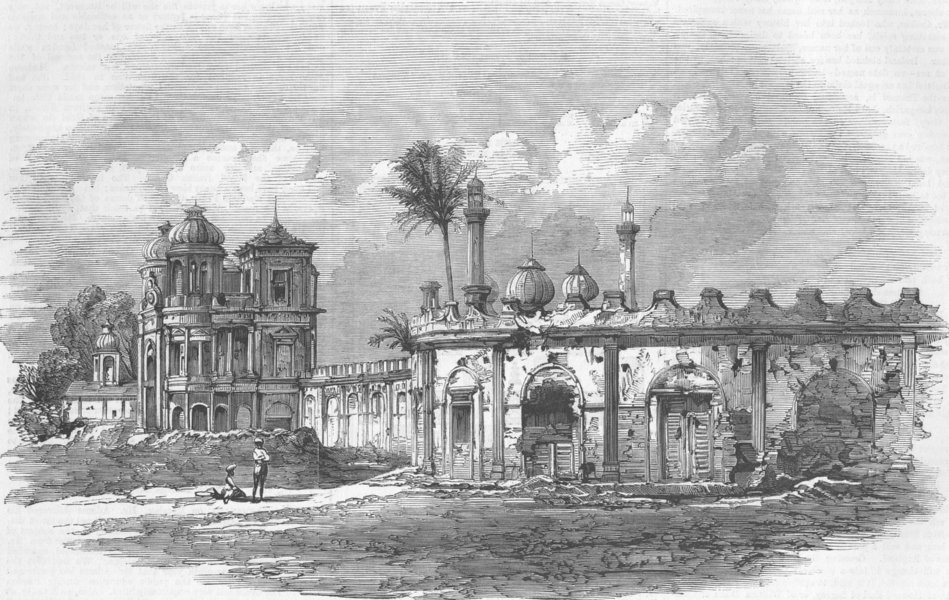 Associate Product INDIA. The Sikandar Bagh, antique print, 1859