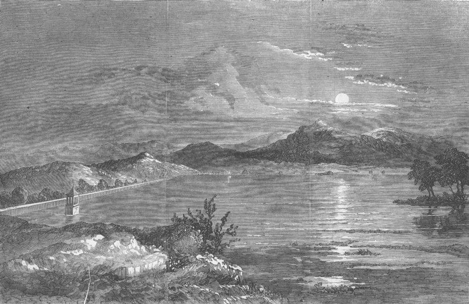 Associate Product AUSTRALIA. The Yan Yean Waterworks, near Melbourne, antique print, 1858