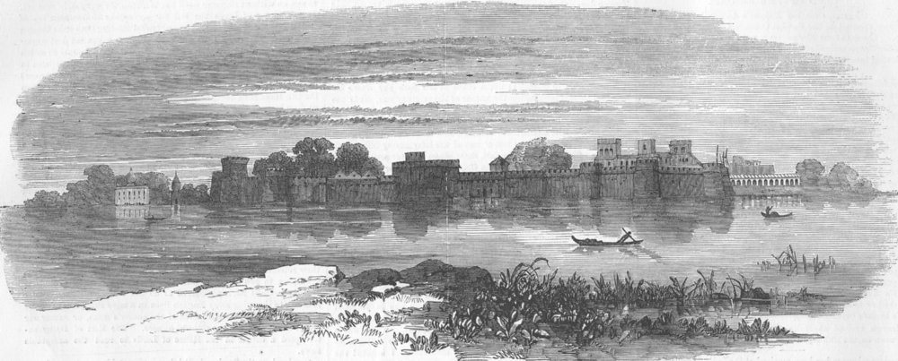 Associate Product INDIA. Indian Mutiny. The Fort of Sagar, antique print, 1858
