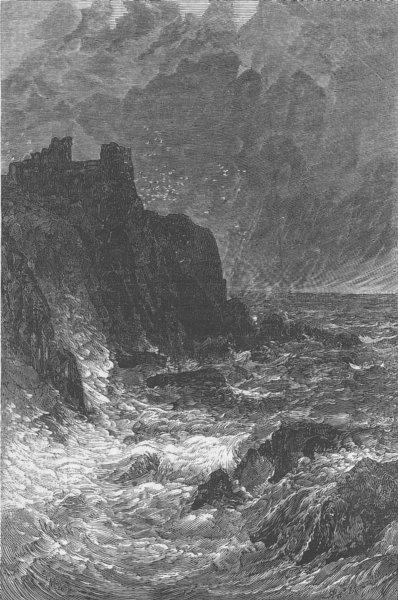 Associate Product SCOTLAND. Tantallon Castle, antique print, 1878