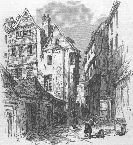 Associate Product FRANCE. Morlaix, Bretagne, antique print, 1871