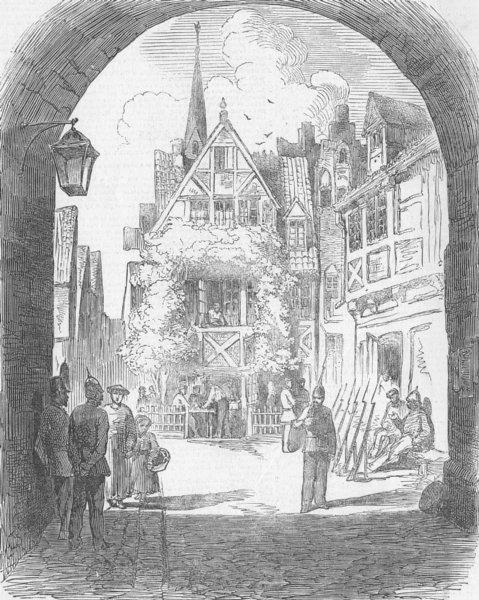 Associate Product GERMANY. Rendsburg, antique print, 1850