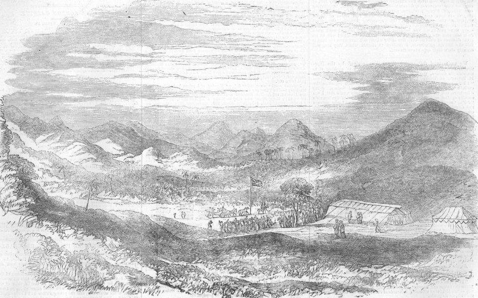 Associate Product INDIA. start of Reservoir, Vehar Valley, Salsette, antique print, 1856