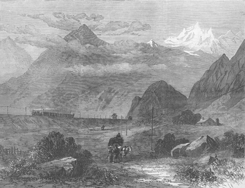Associate Product ITALY. The Dora Valley, near Oulx, antique print, 1871