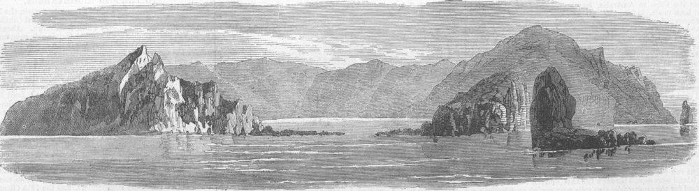Associate Product ANTARCTICA. Île Saint-Paul. Megaera loss, antique print, 1871