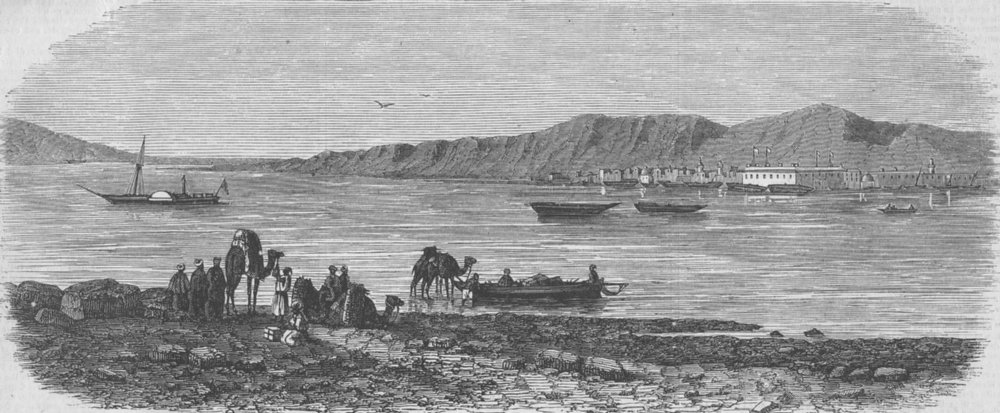 Associate Product EGYPT. Canal. Suez & Red Sea, South of Isthmus, antique print, 1856