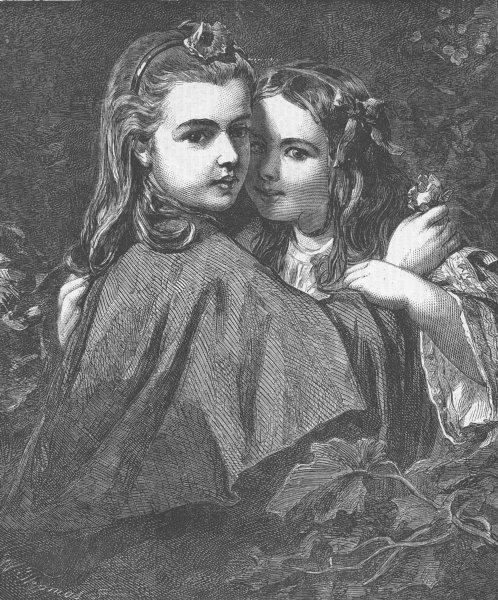 Associate Product CHILDREN. The whisper, antique print, 1862
