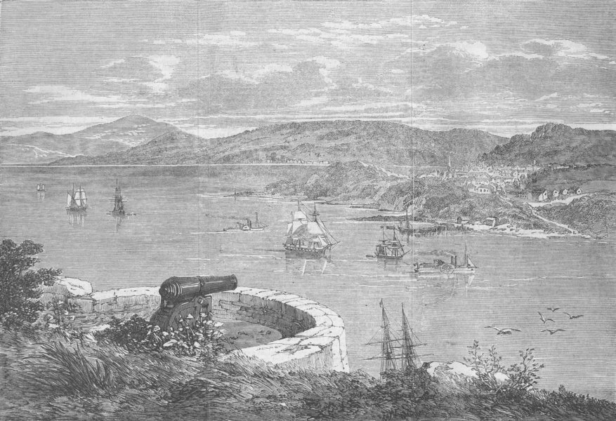 Associate Product CANADA. Point Levi, from Battlements of Quebec, antique print, 1862