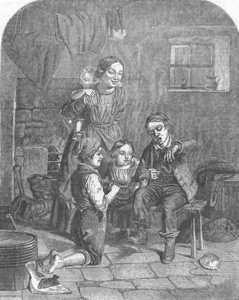 Associate Product CHILDREN. Crab-Catchers, antique print, 1854