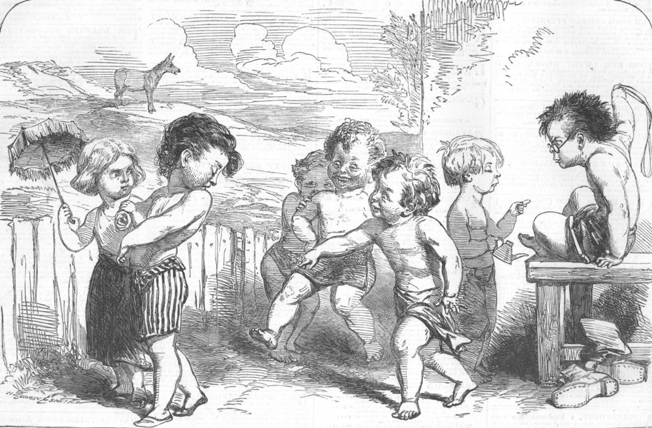 Associate Product CHILDREN. 1st of-All Fools Day, antique print, 1854
