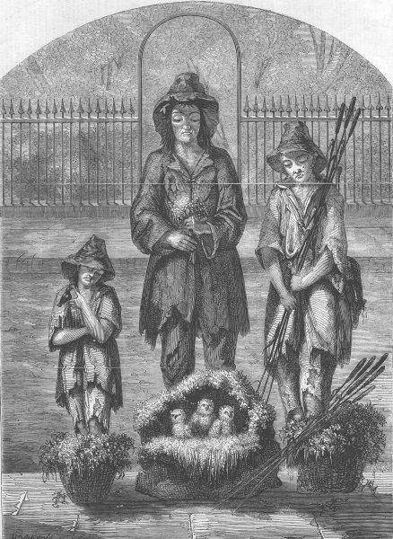 Associate Product LONDON. Street scene, antique print, 1858