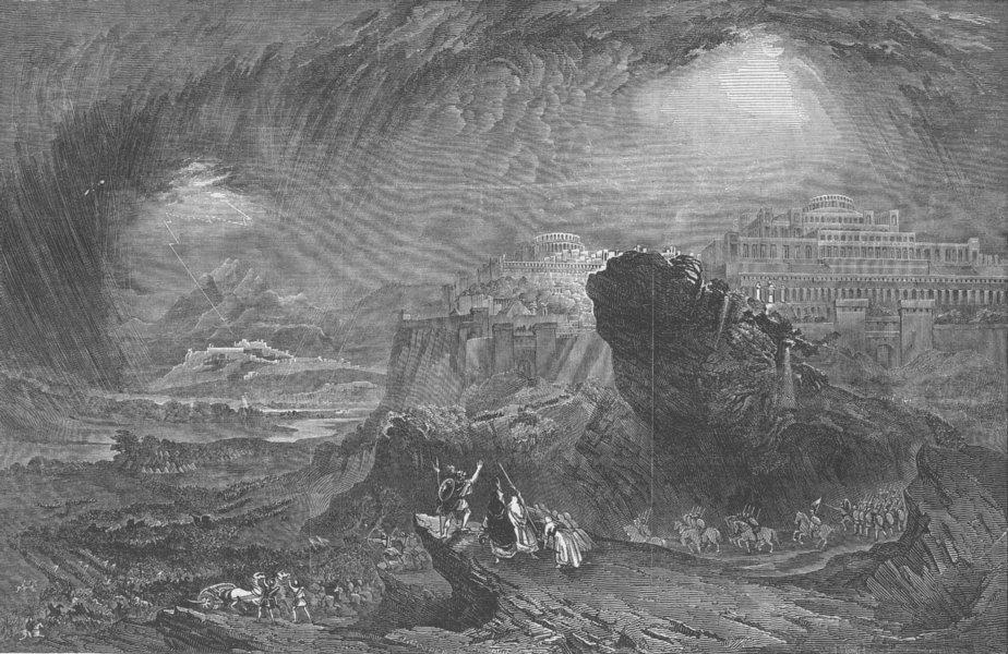 Associate Product ISRAEL. Joshua commanding Sun to stand still, antique print, 1849
