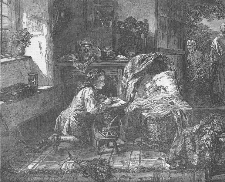 Associate Product CHILDREN. Benjamin West's 1st effort, art, antique print, 1849