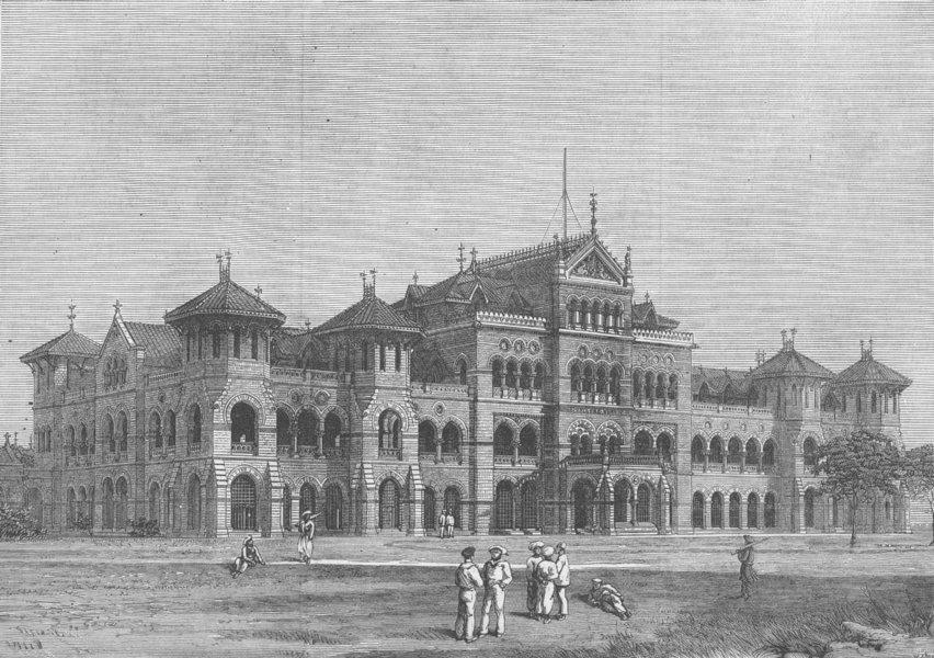 Associate Product INDIA. The new sailors's home, Mumbai, antique print, 1877