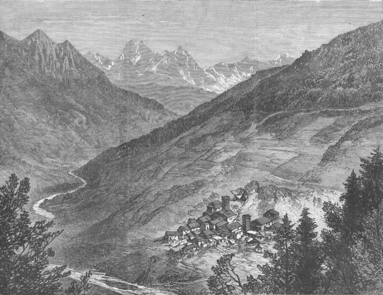 Associate Product GEORGIA. Valley of Inguri, Commune of Kala, antique print, 1877