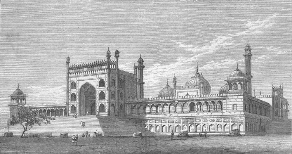 Associate Product INDIA. Imperial Durbar, Delhi. Jama Masjid, antique print, 1877