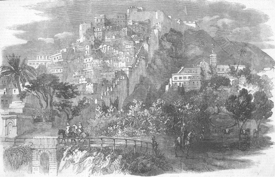 Associate Product ALGERIA. Algiers, from Parade-ground, antique print, 1858